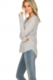 Not Shy |  Cashmere sweater Edith | light grey  | Picture 3