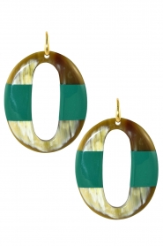 Miccy's | Oorbellen Go Horn | groen  | Afbeelding 1
