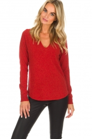 Not Shy |  Cashmere sweater Edith | red  | Picture 3