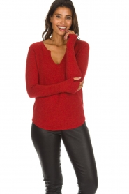 Not Shy |  Cashmere sweater Edith | red  | Picture 2