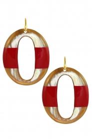 Miccy's | Oorbellen Go Horn | rood  | Afbeelding 1