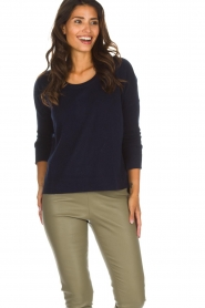 Not Shy |  Cashmere sweater Rosanna | navy  | Picture 2