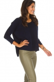 Not Shy |  Cashmere sweater Rosanna | navy  | Picture 4