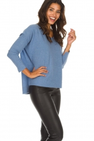 Not Shy |  Cashmere sweater Rosanna | blue  | Picture 4