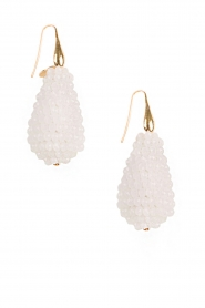 Miccy's | Oorbellen Crystal Drops | wit  | Afbeelding 2