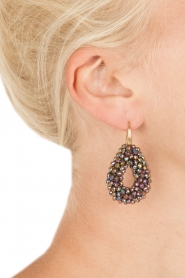 Miccy's |  Earrings Open Crystal Drops | black   | Picture 3