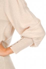 Not Shy | Trui met pofmouwen Seraphine | beige  | Afbeelding 6
