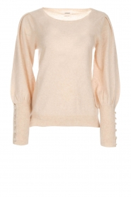 Not Shy |  Sweaterwith puff sleeves Seraphine | beige  | Picture 1