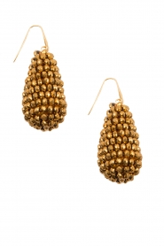 Miccy's    Earrings big crystal Drop   Gold    Picture 2