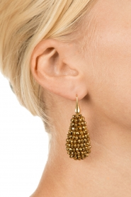Miccy's    Earrings big crystal Drop   Gold    Picture 3