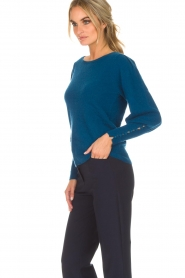 Not Shy |  Sweater met pofmouwen Peatrol | blue  | Picture 4