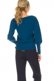 Not Shy |  Sweater met pofmouwen Peatrol | blue  | Picture 5