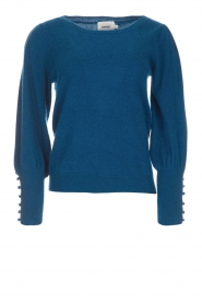 Not Shy |  Sweater met pofmouwen Peatrol | blue  | Picture 1