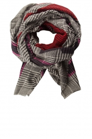 Moment by Moment |  Checkered scarf Elia | pink  | Picture 1