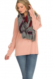 Moment by Moment |  Checkered scarf Elia | pink  | Picture 2