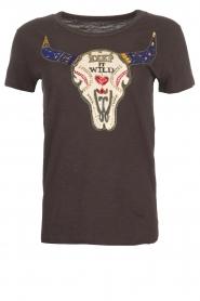 Leon & Harper | T-shirt Toro | zwart  | Afbeelding 1