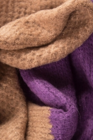 Moment by Moment |  Scarf Eliane | purple & brown  | Picture 4