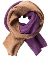 Moment by Moment |  Scarf Eliane | purple & brown  | Picture 1