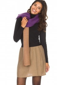 Moment by Moment |  Scarf Eliane | purple & brown  | Picture 2