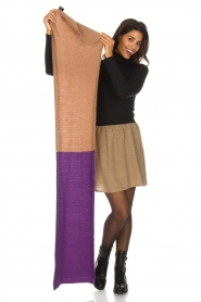Moment by Moment |  Scarf Eliane | purple & brown  | Picture 3
