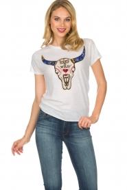Leon & Harper | T-shirt Toro | wit  | Afbeelding 2