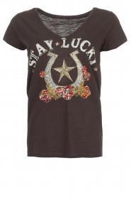 Leon & Harper | T-shirt Tonton | zwart  | Afbeelding 1