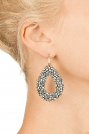 Miccy's |  Earrings Midnight drops | silver  | Picture 3