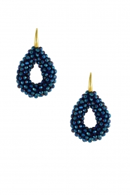 Miccy's |  Earrings Open Crystal Drops | blue  | Picture 2