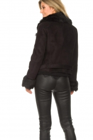 Patrizia Pepe |  Faux coat Alina | black  | Picture 7