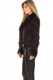 Patrizia Pepe |  Faux coat Alina | black  | Picture 6