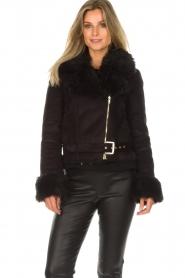 Patrizia Pepe |  Faux coat Alina | black  | Picture 4