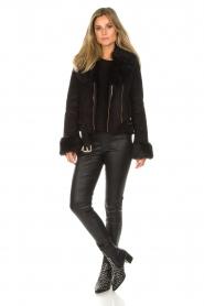 Patrizia Pepe |  Faux coat Alina | black  | Picture 3