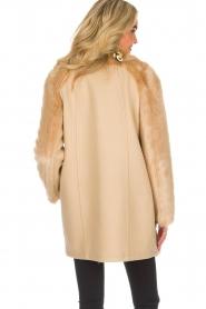 Patrizia Pepe |  Faux fur coat Evelina | beige  | Picture 5