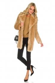 Patrizia Pepe |  Faux fur coat Evelina | beige  | Picture 3