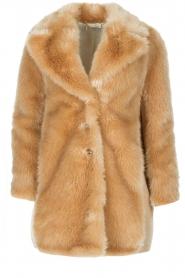 Patrizia Pepe |  Faux fur coat Evelina | beige  | Picture 1
