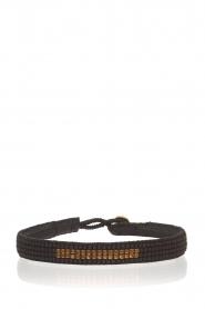 Tembi | Leren armband met kralen Bar | black  | Afbeelding 1