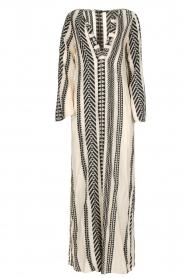 Devotion | Maxi-jurk Delia | zwartwit  | Afbeelding 1