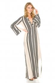 Devotion | Maxi-jurk Delia | zwartwit  | Afbeelding 4