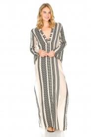 Devotion | Maxi-jurk Delia | zwartwit  | Afbeelding 2