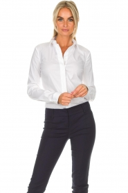Patrizia Pepe |  Body blouse Esra | white  | Picture 2