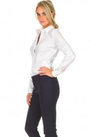 Patrizia Pepe |  Body blouse Esra | white  | Picture 3