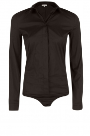 Patrizia Pepe |  Body blouse Esra | black  | Picture 1