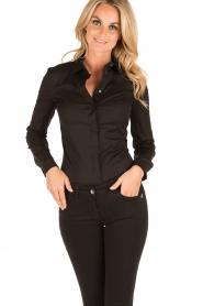 Patrizia Pepe |  Body blouse Esra | black  | Picture 2