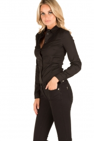 Patrizia Pepe |  Body blouse Esra | black  | Picture 4