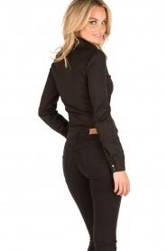 Patrizia Pepe |  Body blouse Esra | black  | Picture 5
