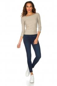 Patrizia Pepe | High waist stretch jeans Sevella | Blauw  | Afbeelding 3