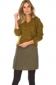 Des Petits Hauts |  Sweater Amberieu | green  | Picture 2