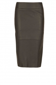 Dante 6 |  Leather pencilskirt Giselle | black  | Picture 1