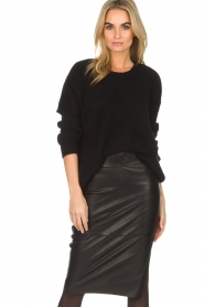 Dante 6 |  Leather pencilskirt Giselle | black  | Picture 2