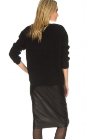 Dante 6 |  Leather pencilskirt Giselle | black  | Picture 5